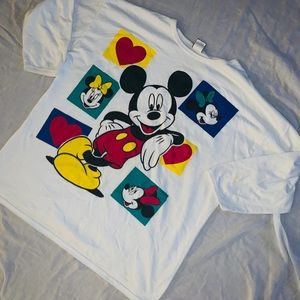 Mickey Mouse vintage 3/4 sleeve Top Size 1X